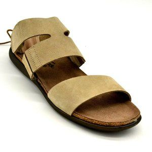 NAOT Larissa Leather Open Toe Tie Back Sandals New